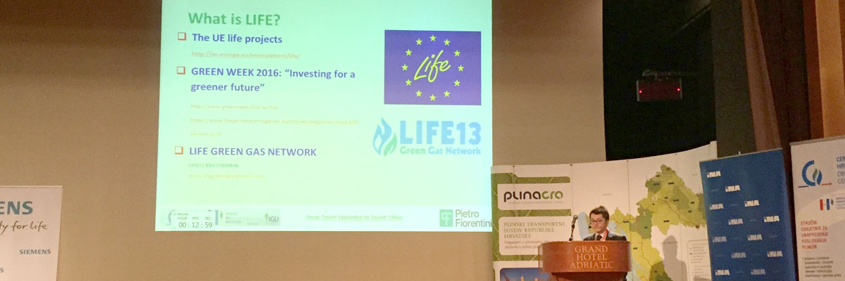 May 2017 - LIFE project presented at 32nd International Gas Professionals Meeting, Opatja (Croatia)